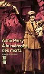 à la mémoire des morts,anne perry,saga reavley,première guerre mondiale
