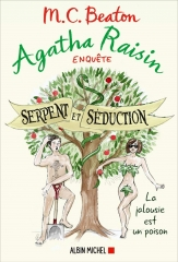 agahta raisin, Agatha Raisin enquête, saga agatha raisin, m. c. beaton, serpent et séduction, Albin michel