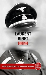 HHhH, laurent binet, hitler, seconde guerre mondiale, heydrich, prague, opération anthropoïde, gestapo, nazi, Himmler