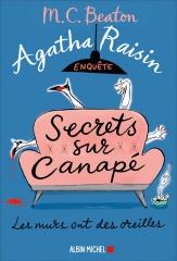 saga agatha raisin,agatha raisin enquête,secrets sur canapé,m. c. beaton,policier anglais,cotswolds, cosy mystery
